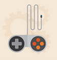 flat joystick icongaming background vector image vector image