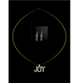 Gold and diamond joy necklace set vector image vector image