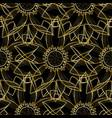 gold lotus modern seamless pattern vector image vector image