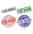 grunge textured for dogs seal stamps vector image vector image