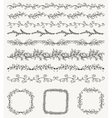 Hand Sketched Seamless Borders Frames Dividers vector image vector image