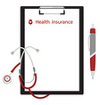health insurance concept vector image vector image