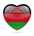 Heart icon of Malawi vector image vector image
