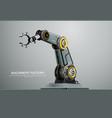 machine robotic robot arm hand factory vector image vector image