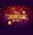 merry christmas on shiny vector image vector image
