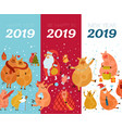 piggies new year banners vector image