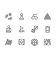 play and game icon simple symbols set contains vector image vector image