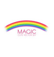 rainbow arch on white background realistic vector image
