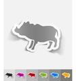 realistic design element boar vector image vector image