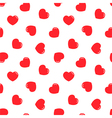 Red hearts seamless pattern background vector image