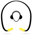 safety banded ear plugs vector image vector image