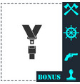 safety belt icon flat vector image vector image