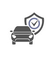 safety insurance car isolated icon on white vector image vector image