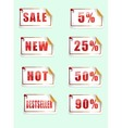 Sale tags set vector image vector image