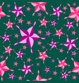 seamless colorful pattern pink purple star vector image vector image