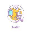 senility concept icon vector image