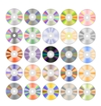 Set of Colorful Different Compact Discs vector image vector image