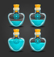 snow bottles with different liquid level vector image vector image