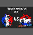 soccer game france vs netherlands vector image