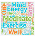 Stay Healthy Learn To Meditate text background vector image vector image