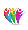 teamwork group of people logo vector image vector image