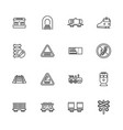 trains - flat icons vector image vector image