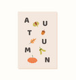 trendy minimalist fall season greeting card vector image vector image