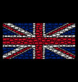 uk flag pattern of car icons vector image vector image
