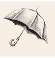 umbrella hand drawn sketch vector image vector image