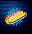 vintage fast food emblem vector image vector image