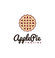 vintage hipster retro apple pie logo vector image vector image