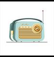 vintage radio receiver fla vector image