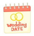 Wedding date icon cartoon style vector image