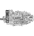 what is great customer service text word cloud vector image vector image