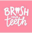 with healthy white tooth and lettering phrase vector image vector image