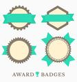 Flat design Labels vector image