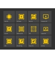 CPU Central Processing Unit icons vector image