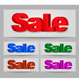 Design a banners for sale vector image