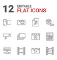 12 camera icons vector image vector image