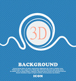3D sign icon 3D-New technology symbol Blue and vector image