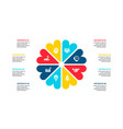 abstract flat elements cycle diagram with 8 vector image vector image