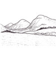 abstract monochrome sketch landscape vector image vector image