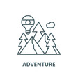 adventure line icon outline concept vector image vector image