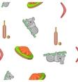 Australia travel pattern cartoon style vector image vector image