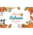 autumn sale banner design element background vector image