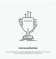 award competitive cup edge prize icon line gray vector image vector image