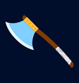 axe icon label of fantasy and medieval weapon vector image vector image