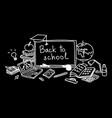 back to school hand drawn set color sketch vector image vector image