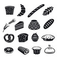 bakery and bread icons vector image