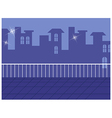 Balcony cityscape view vector image vector image